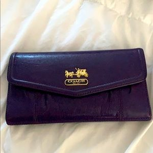 Coach wallet with cheque book insert